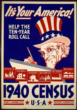 1940 census poster