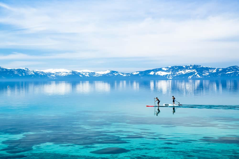 amazing view stand up paddle boarding