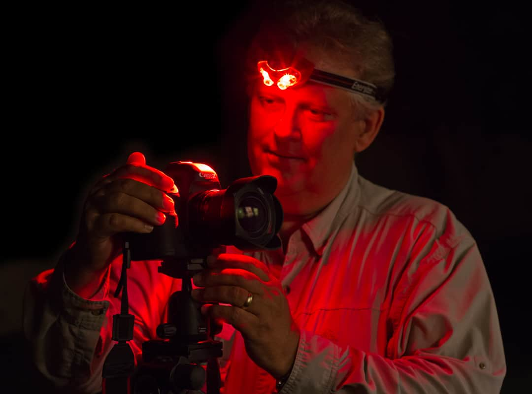 red lens headlamp