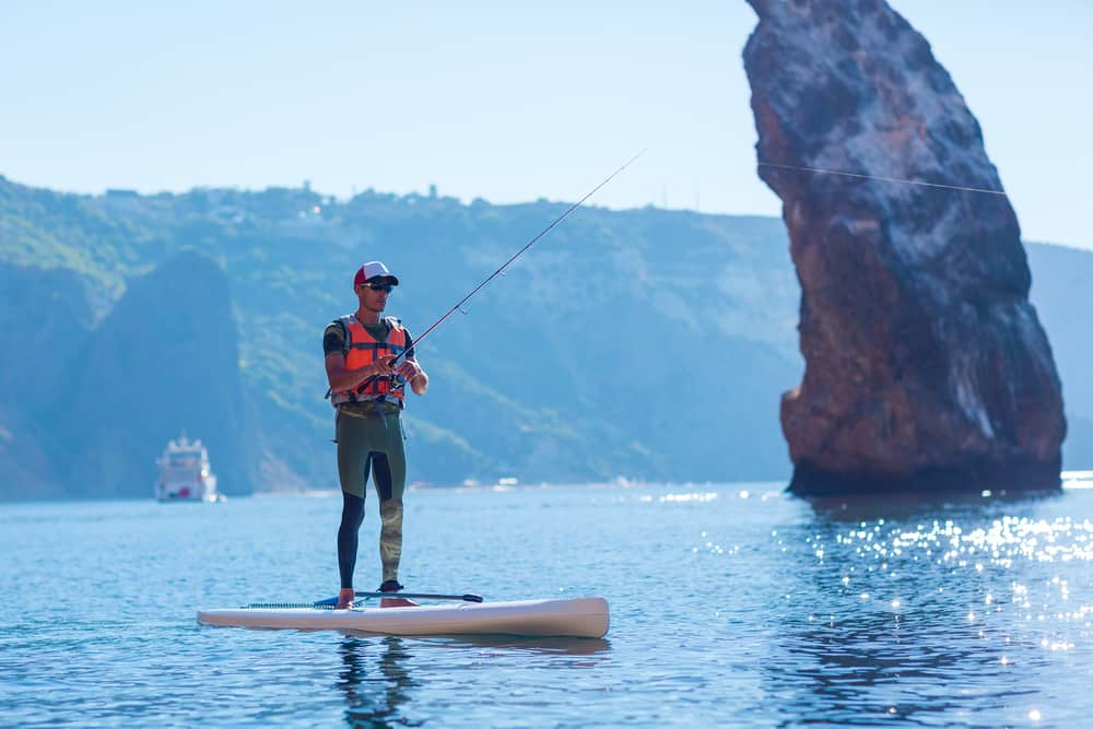 stand up paddle boarding fishing