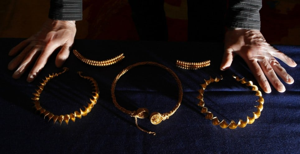 4. Gold Iron Age Necklaces