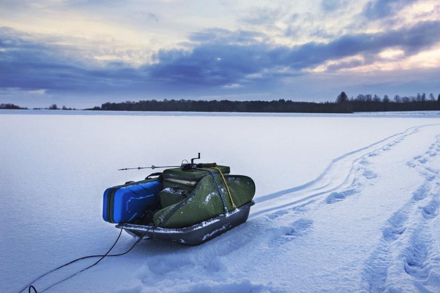 Ice fishing sled