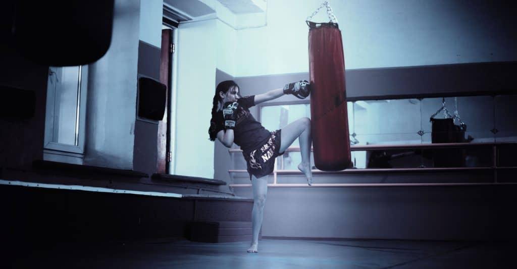 woman martial arts
