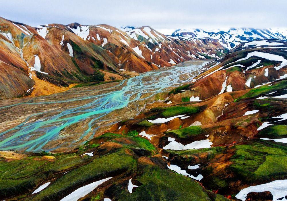 drone-landscape-iceland-landmannalaugar
